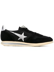 Haus By Ggdb Star Print Lace Up Sneakers Unisex Suede Nylon Polyamide Rubber 42 Black