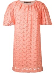 Maurizio Pecoraro Embroidered Dress Pink Purple