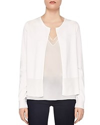 Ted Baker Ferliss Nectar Back Pleat Cardigan Natural