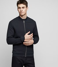 Reiss Kem Quilted Bomber Jacket In Navy