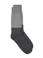 Selected Homme Grey Waffle Textured Socks