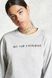 Forever 21 Not For Everybody Pullover Heather Grey Black
