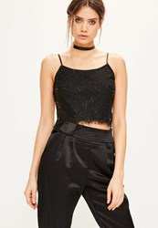 Missguided Black Corded Lace Longline Bralet