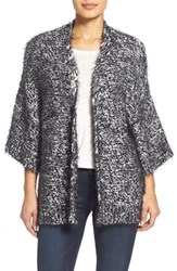 Women's Two By Vince Camuto Marled Eyelash Knit Drape Front Cardigan