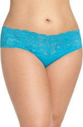Cosabella Plus Size Women's 'Never Say Never Lovely' Thong Picasso Blue