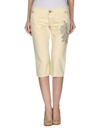 Pinko Denim Capris Light Yellow