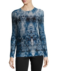 Catherine Catherine Malandrino Antonio Printed Long Sleeve Mesh Tee Tribal Fur
