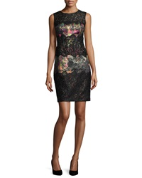 Kay Unger New York Sleeveless Printed Lace Cocktail Dress