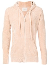 Laneus Chenille Hooded Sweatshirt Nude And Neutrals