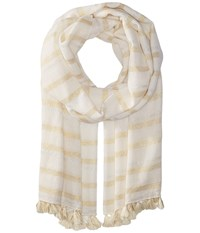 Lilly Pulitzer The Stripe Scarf Resort White Scarves