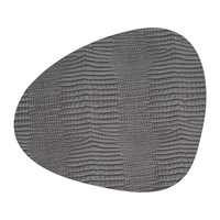 Lind Dna Croco Curve Table Mat Silver Black Black Silver