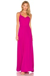 Amanda Uprichard Mallorie Maxi Dress Fuchsia
