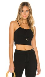 Solid And Striped Slinky Knit Tank In Black.