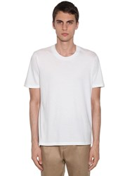 Jil Sander Cotton Jersey T Shirt White