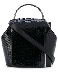 Onesixone Snakeskin Effect Tote Women Leather One Size Black