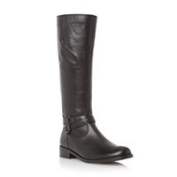 Gabor Lucky Knee High Riding Boots Black Leather