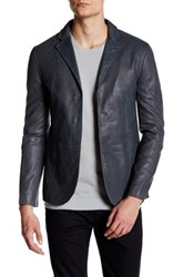 John Varvatos Genuine Lambskin Leather Slim Fit Jacket Multi