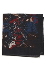 Bonobos Butterfly Print Wool Pocket Square Butterfly Night