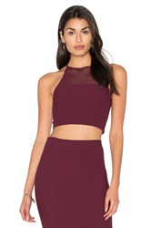 Bcbgeneration Racer Back Crop Tank Burgundy