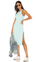 Cotton Citizen Melbourne Tank Midi Dress With Slit Teal