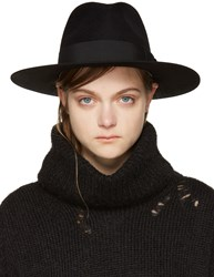 Saint Laurent Black Felt Bowie Fedora