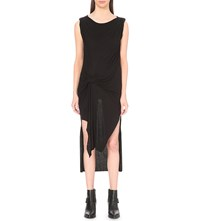 Allsaints Riviera Tavi Wool Crepe Dress Black