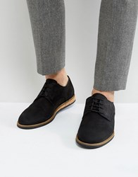 Zign Lace Up Shoes With Cork Detail Black