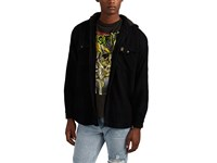Madeworn Snoop Dogg Cotton Hooded Shirt Jacket Black