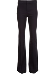 Derek Lam 10 Crosby Flared Tailored Trousers Black