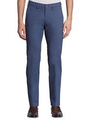 Saks Fifth Avenue Collection Mini Print Chino Pants Blue