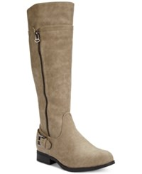 Easy Street Shoes Easy Street Burke Riding Boots Women's Shoes Mushroom