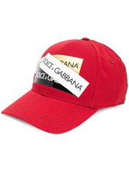 Dolce And Gabbana Logo Prints Cap Red