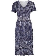 Cc Petite Hazy Lines Crinkle Dress Navy