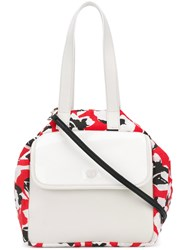 Carmina Campus Floral Colour Block Tote Red