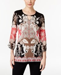 Jm Collection Printed Keyhole Tunic Only At Macy's St Maarten