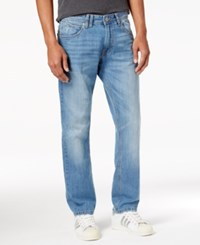 Sean John Men's Relaxed Fit Straight Leg Destroyed Jeans Light