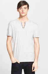 Men's John Varvatos Star Usa Short Sleeve Eyelet Henley