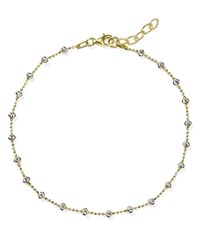 Officina Bernardi Moon Chain Anklet Gold Silver