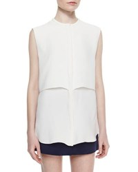 Adam By Adam Lippes Sleeveless Double Layer Shell Ivory