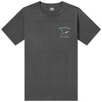 Stussy Catch And Release Pigment Dyed Tee Black