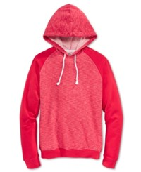 American Rag Men's Two Tone Colorblocked Hoodie Only At Macy's Sunset Red