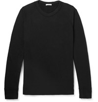 James Perse Loopback Supima Cotton Jersey Sweatshirt Black