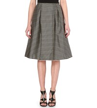Ted Baker Striped Woven Midi Skirt Black