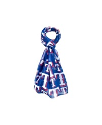 Forever Collectibles Texas Rangers All Over Logo Infinity Scarf Blue
