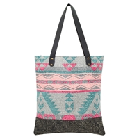 East Geo Print Canvas Shopper Bag Multi