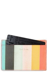 Paul Smith Men's Stripe Leather Card Holder