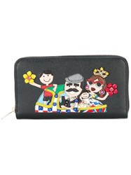 Dolce And Gabbana Dauphine Designer's Patch Wallet Black
