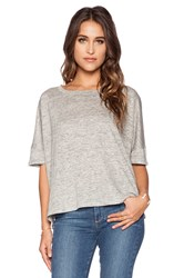 Heather Linen Box Top Gray