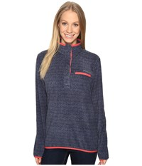 Columbia Mountain Side Printed Pullover Bluebell Zigzag Print Women's Long Sleeve Pullover