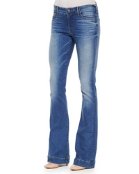 True Religion Charlize Faded Whiskered Flared Jeans